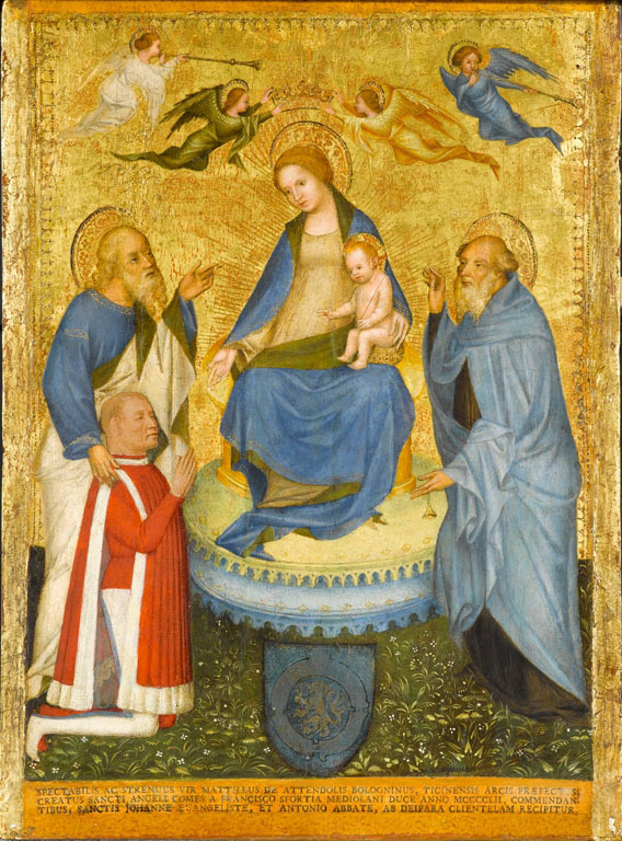 The Madonna and Child with Saint John the Evangelist, a Donor, and Saint Anthony Abbot