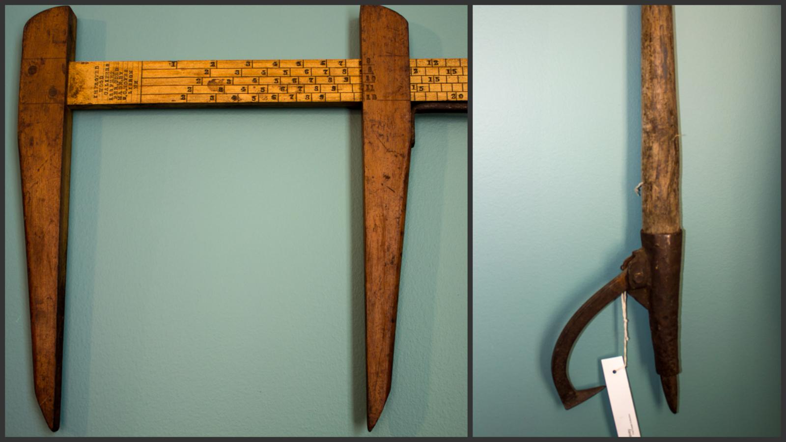 19th Century Logging Tools: Log Rule & Peavey