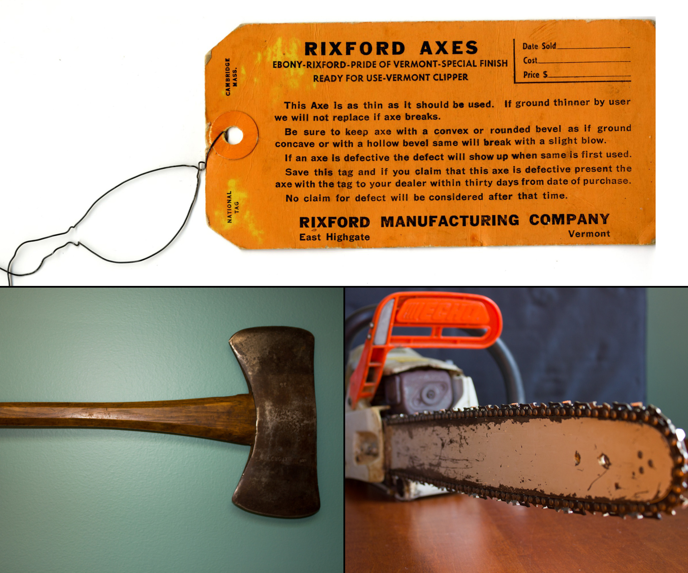 Tools From the Turn of Two Centuries: Double-bitted Axe & Chainsaw