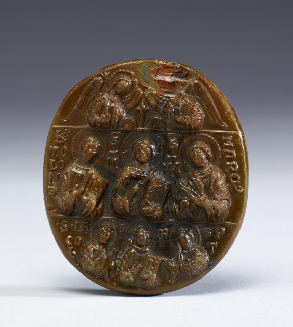 Pilgrim Medallion with Christ, Angels, Apostles and Saints