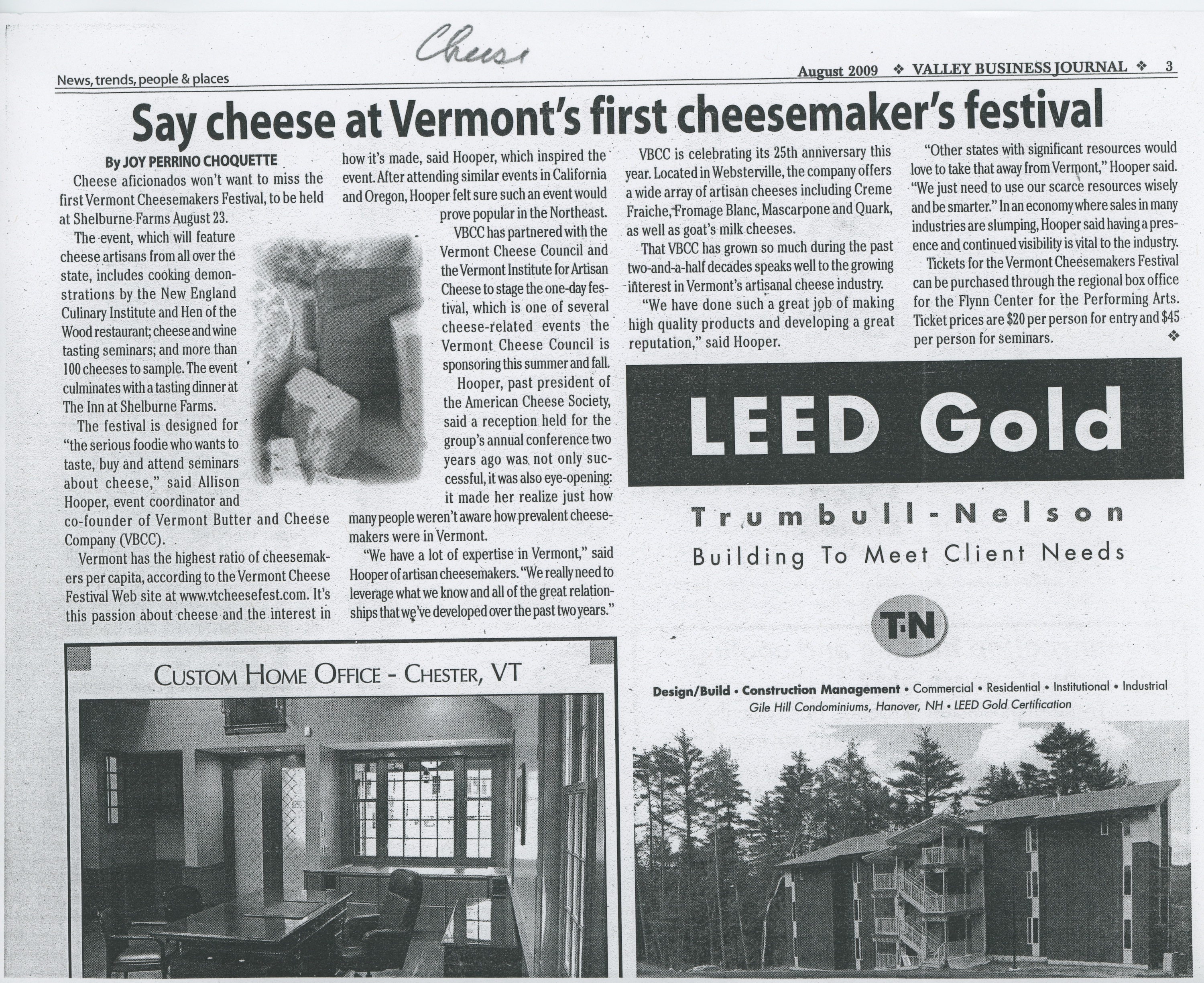 Say cheese at Vermont's first cheesemaker's festival