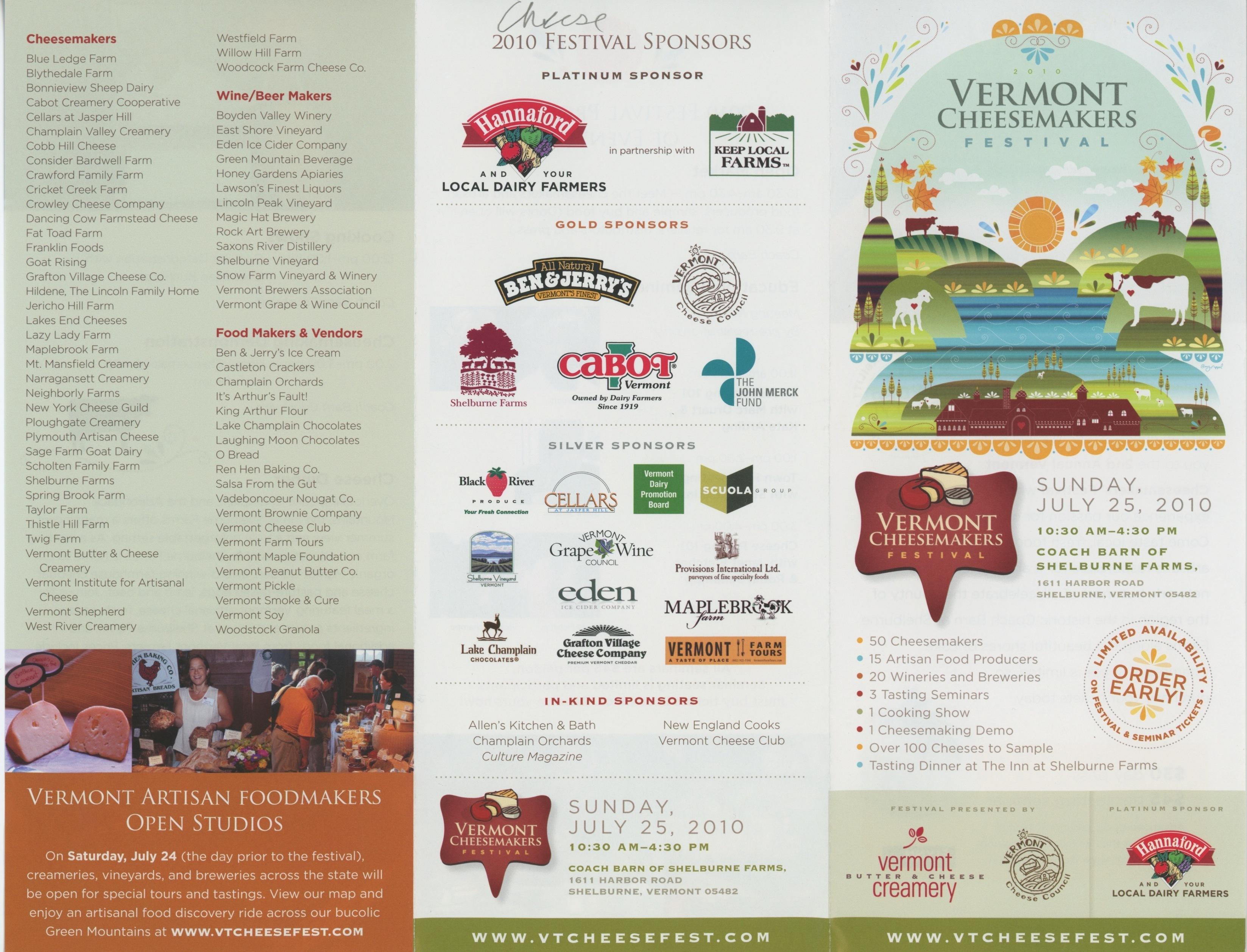 2010 Festival Program of Events