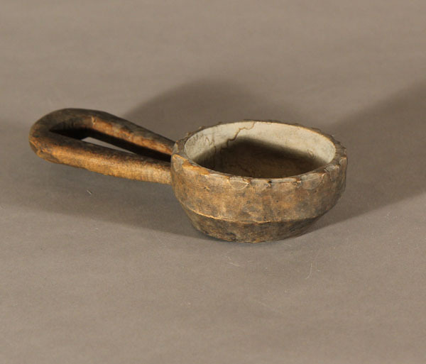 Wooden Chow Bowl with Loop Handle