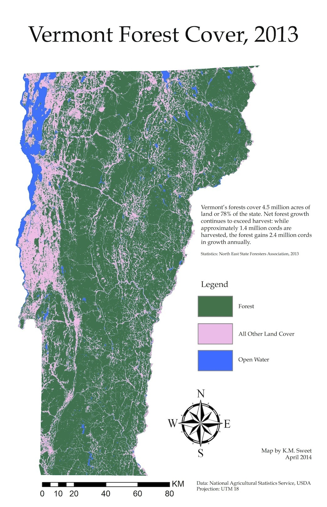 Vermont Forest Cover, 2013