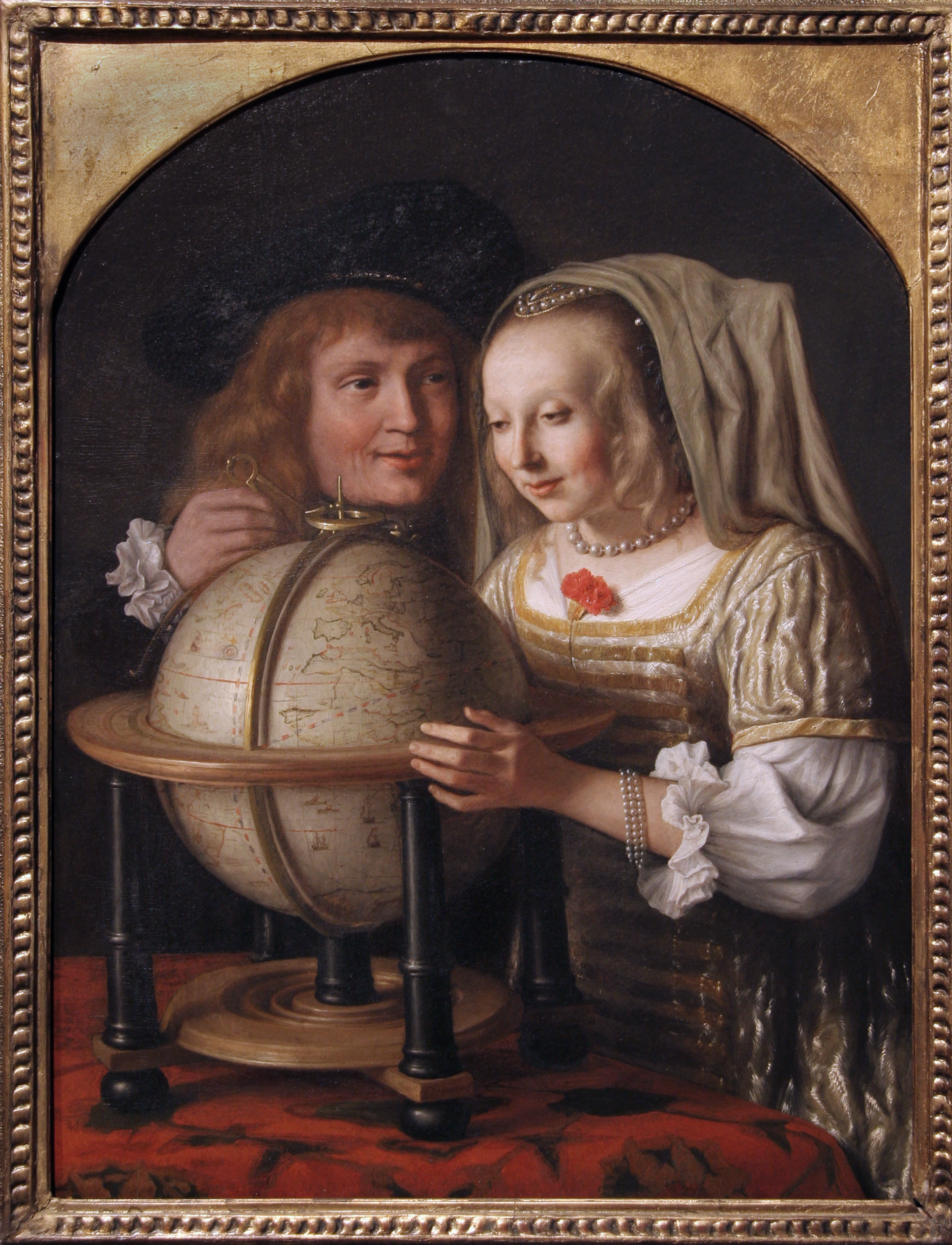 Couple With a Globe