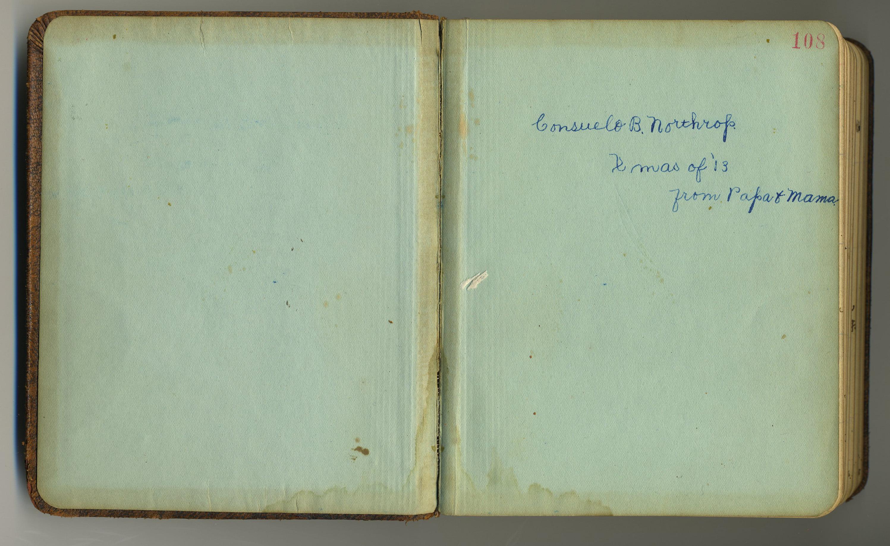 UVM Student Diary, Consuelo Northrop Bailey, 1914-1918
