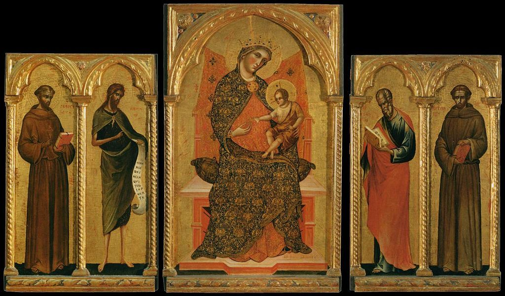 Paolo Veneziano  Panels of a Polyptych