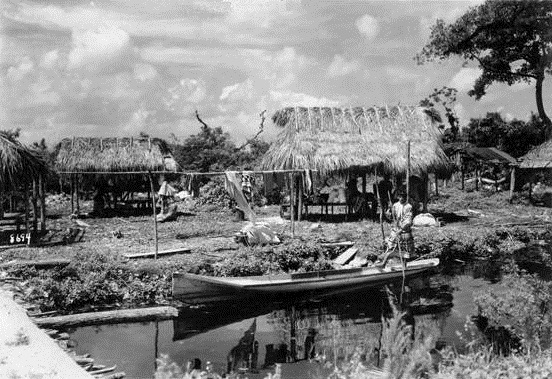 Seminole Village in Everglades