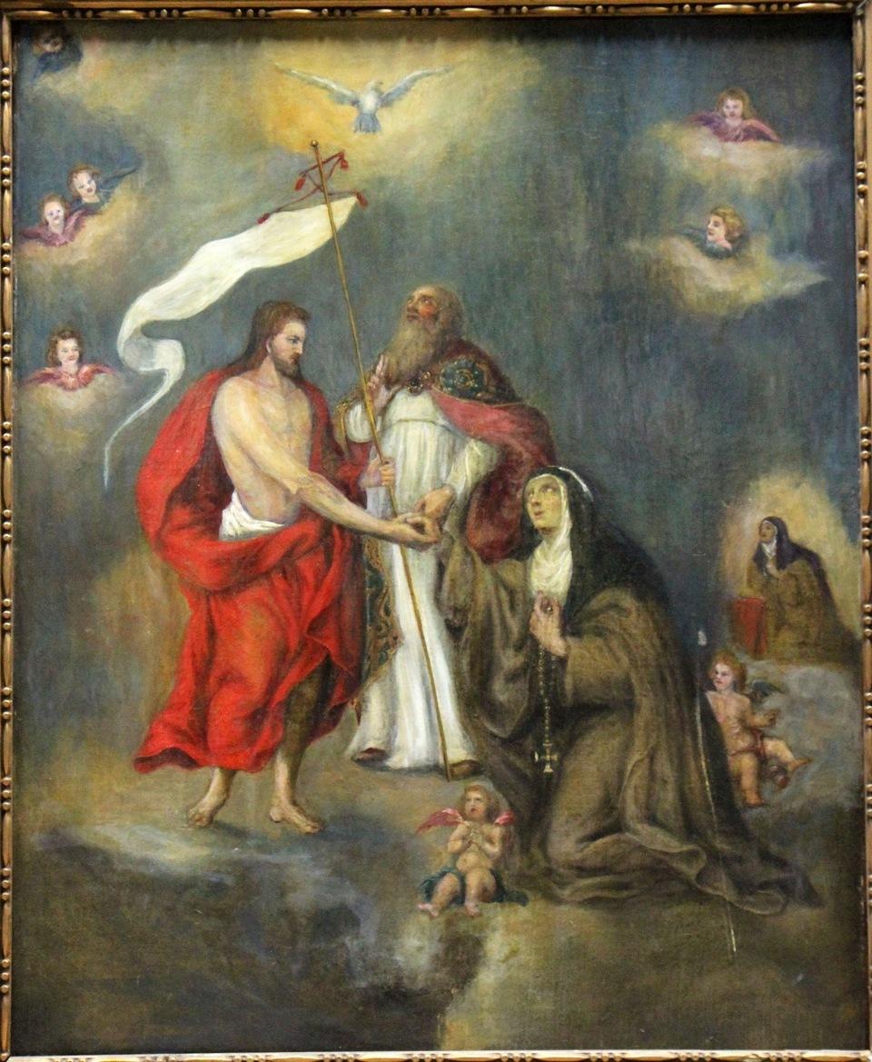 St. Teresa of Avila Pleading for Souls in Purgatory