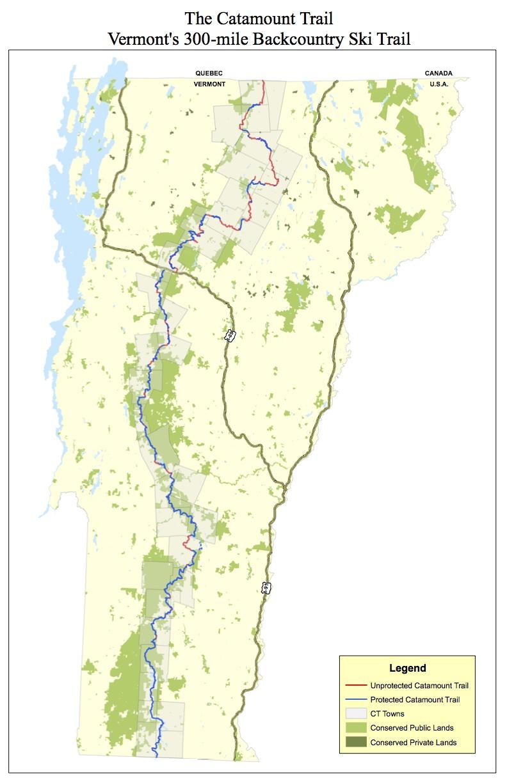 Catamount Trail Map · Omeka@CTL on