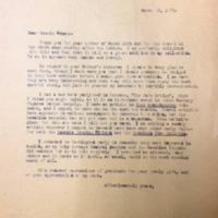 FPK to Edna Hale, March 30, 1935