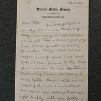 FPK to Peter Keyes, April 30, 1933