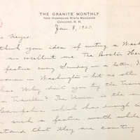 H. C. Pearson to FPK, January 8, 1920