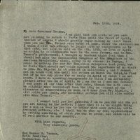 FPK to Horace M. Towner, February 19, 1924