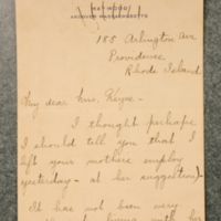 Alice Manley to FPK, March 11, 1932