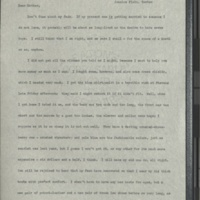 Letter from Frances to Louise- January 13, 1901