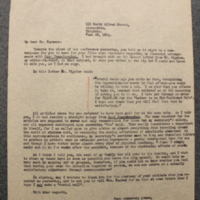 FPK to H.M. Keyser, June 28, 1934