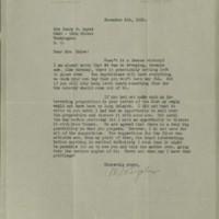 William Frederick Bigelow to FPK, November 5, 1920