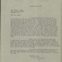 William Frederick Bigelow to FPK, November 24, 1920