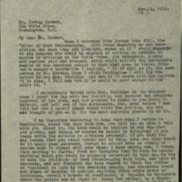 FPK to Irving Hoover, November 2, 1923