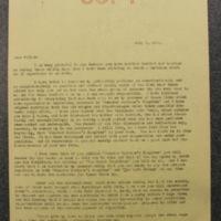 FPK to Julian Messner, July 8, 1933