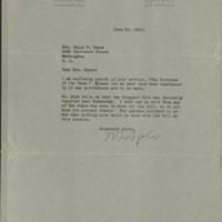 William Frederick Bigelow to FPK, June 2, 1920