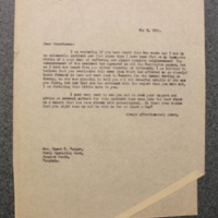 FPK to Genevieve Gudger, May 9, 1934