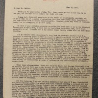 FPK to T.R. Smith, June 14, 1934