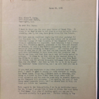 W. F. Bigelow to FPK from March 22, 1920