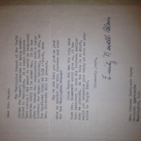 Emily Newell Blair to FPK, February 23, 1939