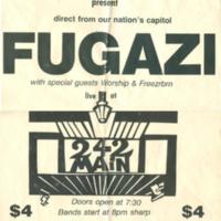 Fugazi Poster 1989