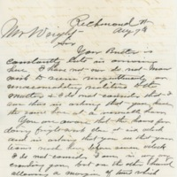 Letter to Smith Wright