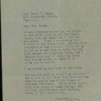 William Frederick Bigelow to FPK, March 31, 1920