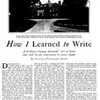 "FPK, ""How I Learned to Write,"" Good Housekeeping, October 1924"