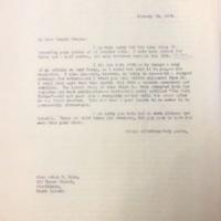 FPK to Edna Hale, January 30, 1934