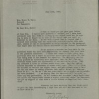 William Frederick Bigelow to FPK, June 11, 1920