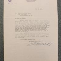 H.M. Keyser to FPK, July 25, 1934