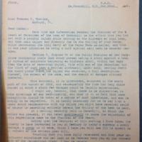 Henry W Keyes to Frances P. Wheeler [Keyes]<br /> Letter, 1901 October 22