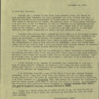 FPK to Marjorie Greenbie, September 22, 1932