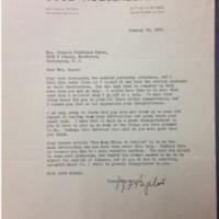W. F. Bigelow to FPK, January 29, 1932