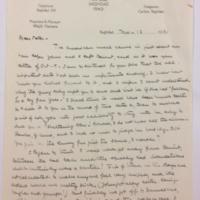 FPK to Peter Keyes, November 12, 1933