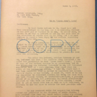 Henry W. Keyes Jr. to Horace Liveright Inc., March 3, 1930