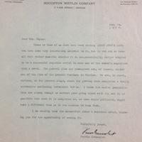 Ferris Greenslet to FPK, January 14,1928