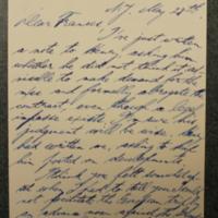Julian Messner to FPK, May 27, 1933