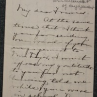 Mary Winsor to FPK, undated