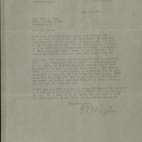 William Frederick Bigelow to FPK, May 19, 1920