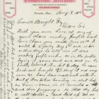 Letter to Smith Wright, Aug 8, 1882