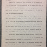A Letter from Frances Parkinson Keyes to her Mother, October 31, 1900