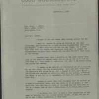 William Frederick Bigelow to FPK, February 6, 1923