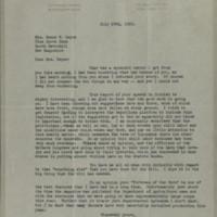 William Frederick Bigelow to FPK, July 29, 1920